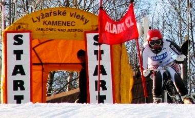 Závody v jízdě na skibobu, skiareál Kamenec