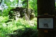 Hrad Nístějka - skalní blok se zbytky zdiva.