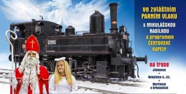 Andělská projížďka - mikulášské jízdy historickým parním vlakem v Jablonci nad Jizerou
