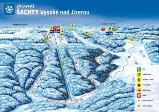 Mapa SKI areál Šachty