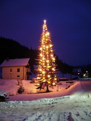 Rozsvícení vánocního stromu v Buřanech